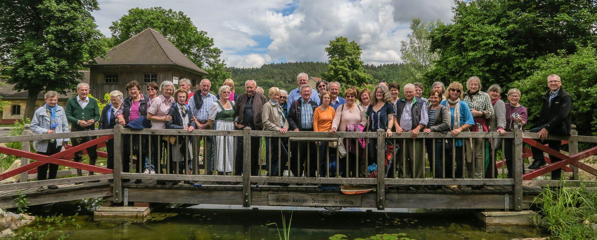 Der Gartenbauverein Unterwössen auf dem Ausflug nach Wiesmühl 2016