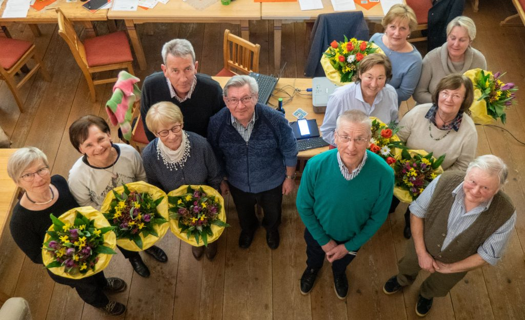 Die Vorstandschaft im Gartenbauverein Unterwössen.