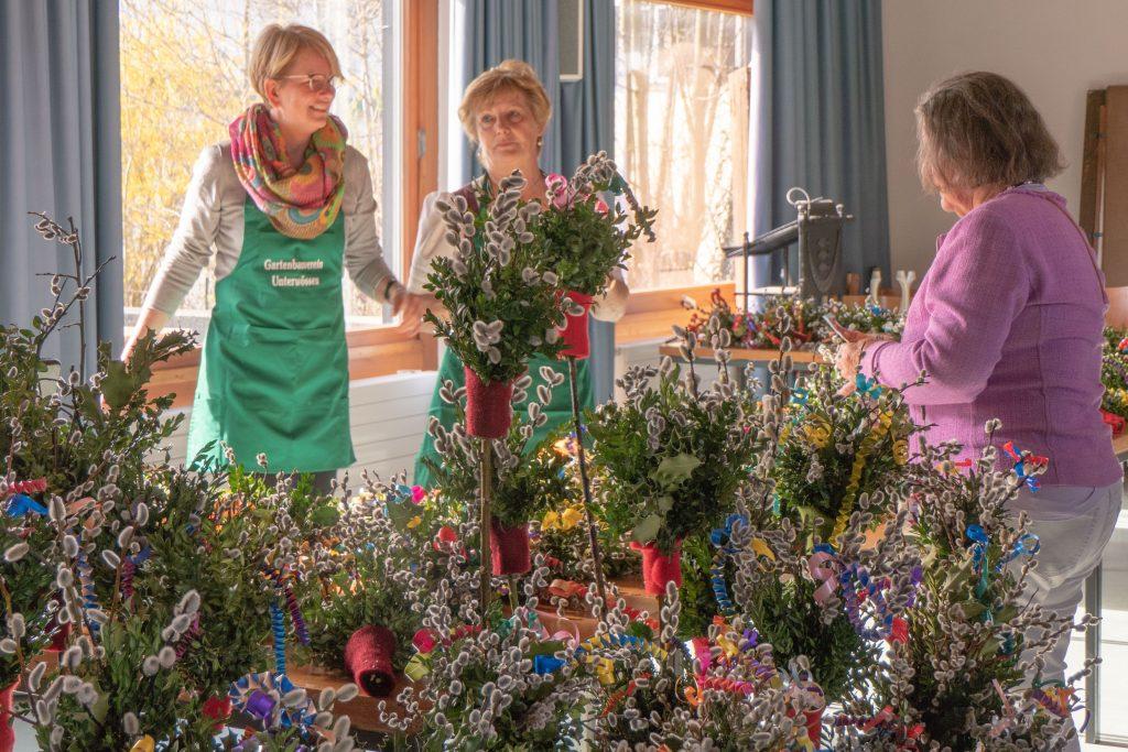 Palmbuschenverkauf des Gartenbauvereins zu Palmsonntag