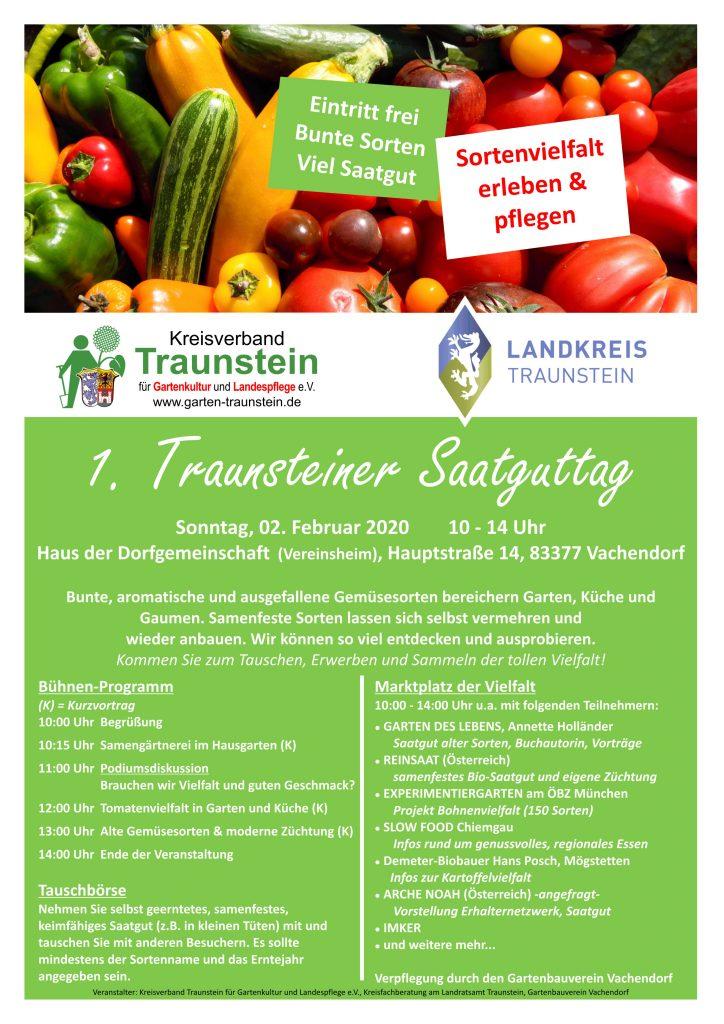1. Traunsteiner Saatguttag, Plakat 2020